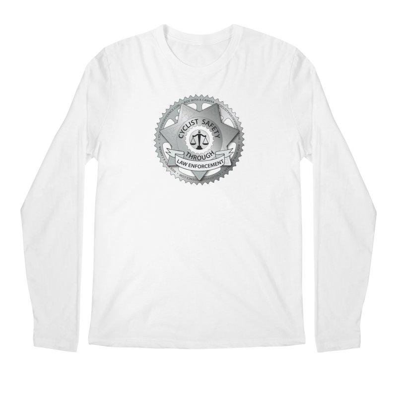 Cyclist Safety Through Law Enforcement Men's Regular Longsleeve T-Shirt by Cyclist Video Evidence's Artist Shop