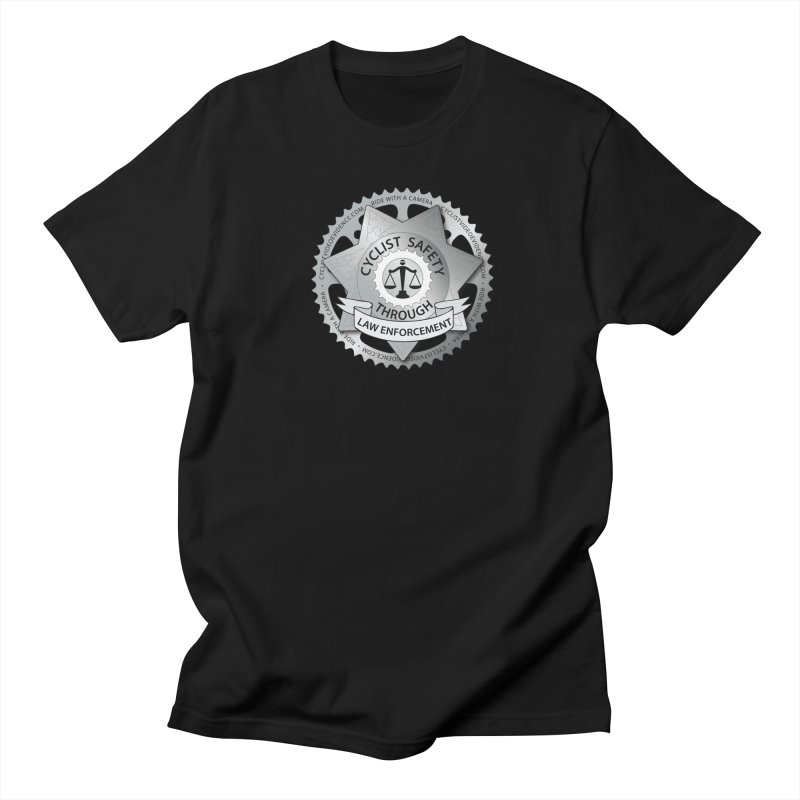 Cyclist Safety Through Law Enforcement in Men's Regular T-Shirt Black by Cyclist Video Evidence's Artist Shop