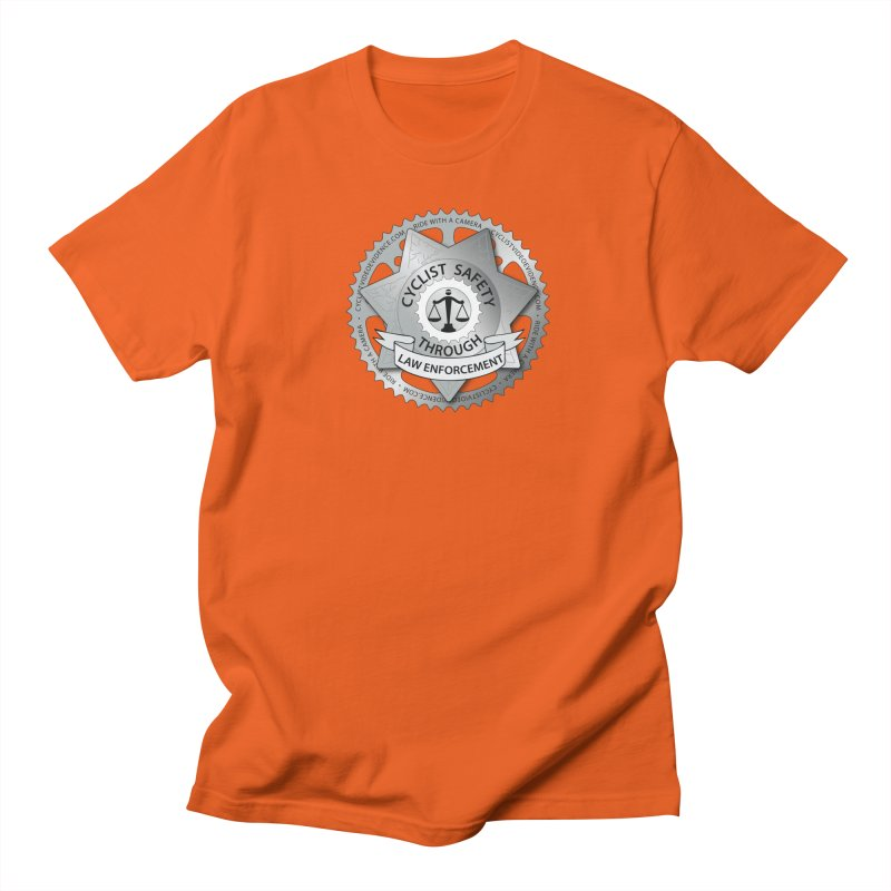 Cyclist Safety Through Law Enforcement Men's Regular T-Shirt by Cyclist Video Evidence's Artist Shop