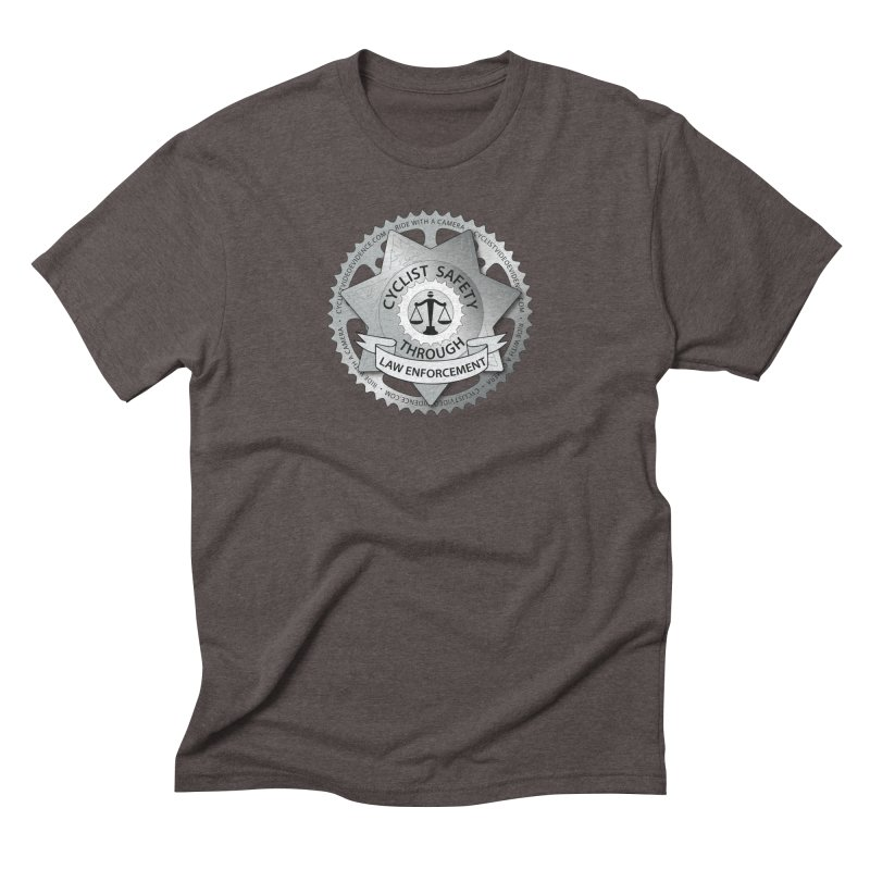 Cyclist Safety Through Law Enforcement Men's Triblend T-Shirt by Cyclist Video Evidence's Artist Shop