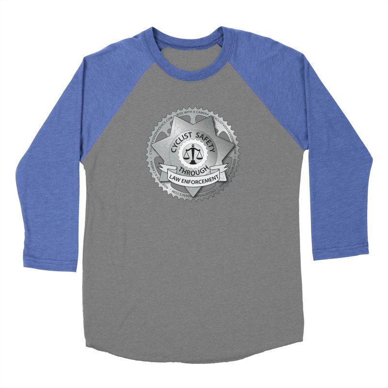 Cyclist Safety Through Law Enforcement Men's Baseball Triblend Longsleeve T-Shirt by Cyclist Video Evidence's Artist Shop