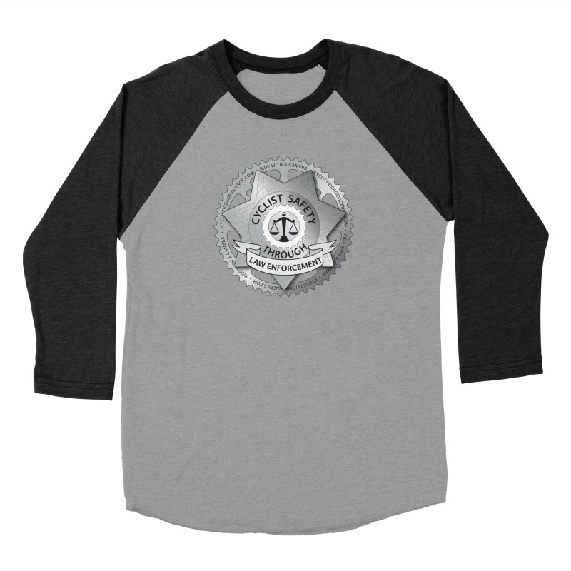 Cyclist Safety Through Law Enforcement Men's Baseball Triblend Longsleeve T-Shirt by Cyclist Video Evidence's Artist Shop