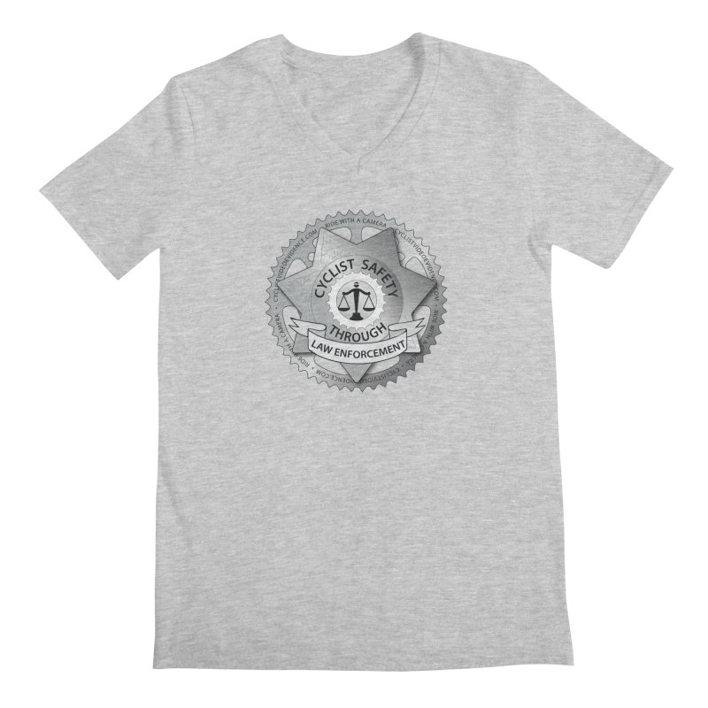 Cyclist Safety Through Law Enforcement Men's Regular V-Neck by Cyclist Video Evidence's Artist Shop