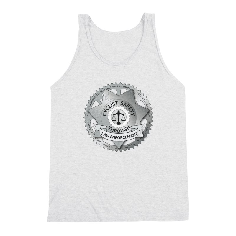 Cyclist Safety Through Law Enforcement Men's Triblend Tank by Cyclist Video Evidence's Artist Shop