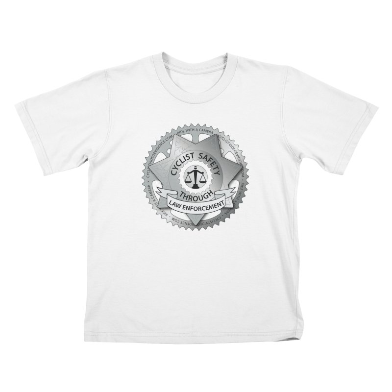 Cyclist Safety Through Law Enforcement Kids T-Shirt by Cyclist Video Evidence's Artist Shop