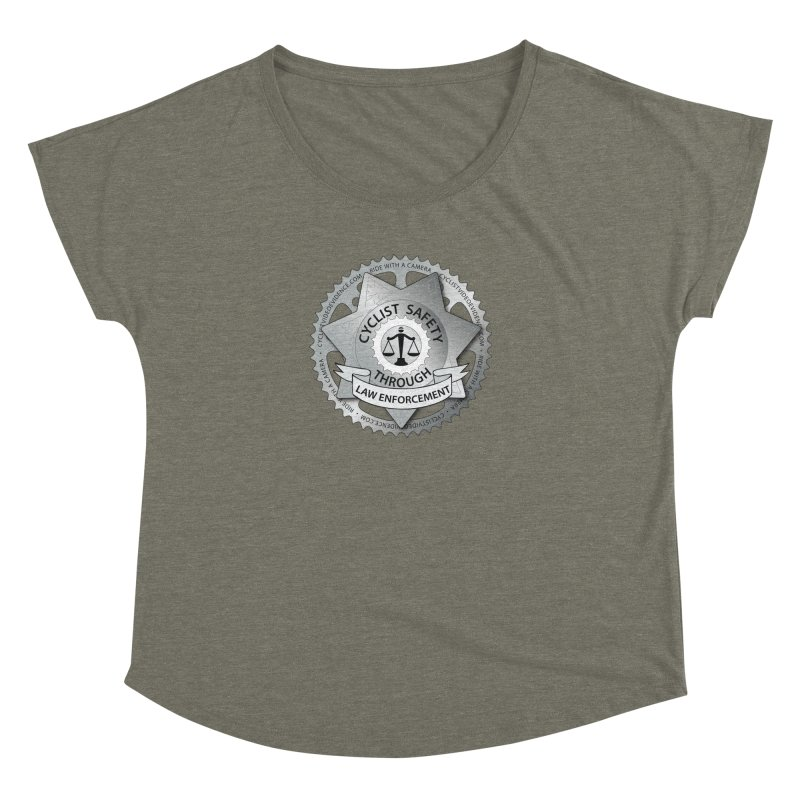 Cyclist Safety Through Law Enforcement Women's Dolman Scoop Neck by Cyclist Video Evidence's Artist Shop