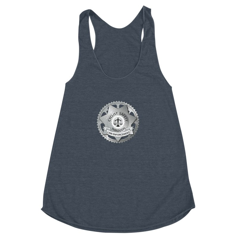 Cyclist Safety Through Law Enforcement Women's Racerback Triblend Tank by Cyclist Video Evidence's Artist Shop