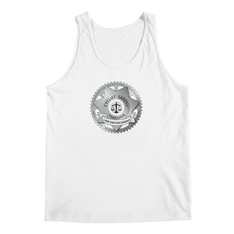 Cyclist Safety Through Law Enforcement Men's Regular Tank by Cyclist Video Evidence's Artist Shop