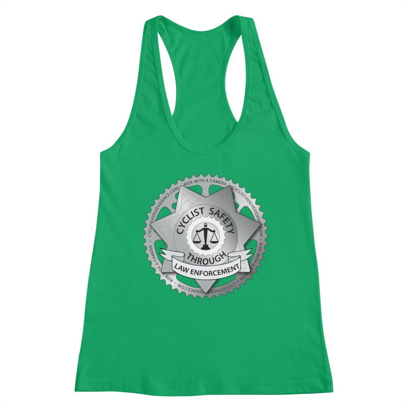 Cyclist Safety Through Law Enforcement Women's Tank by Cyclist Video Evidence's Artist Shop
