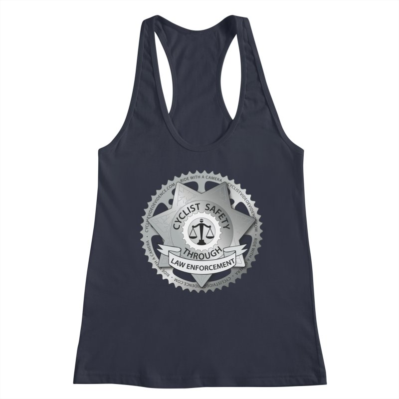 Cyclist Safety Through Law Enforcement Women's Racerback Tank by Cyclist Video Evidence's Artist Shop