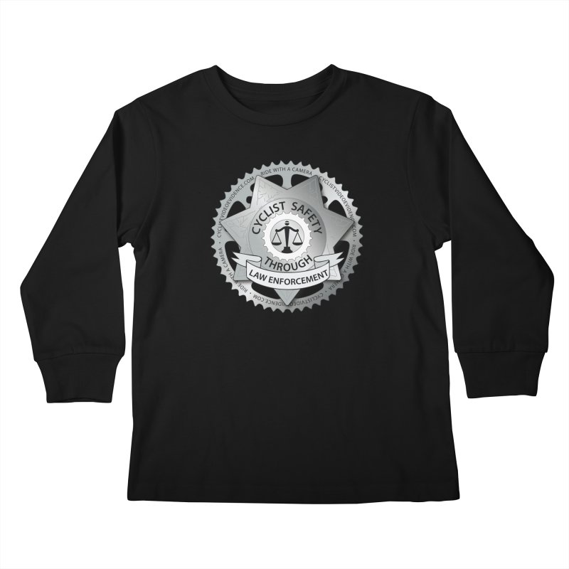 Cyclist Safety Through Law Enforcement Kids Longsleeve T-Shirt by Cyclist Video Evidence's Artist Shop