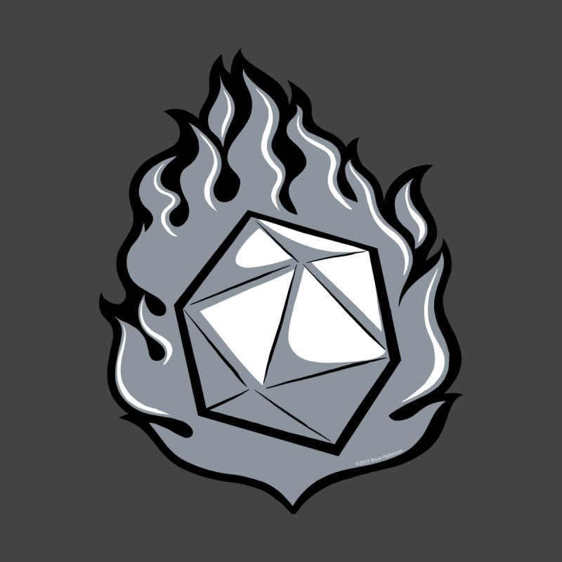 Flaming d20 2nd-Edition by d20monkey's Shop