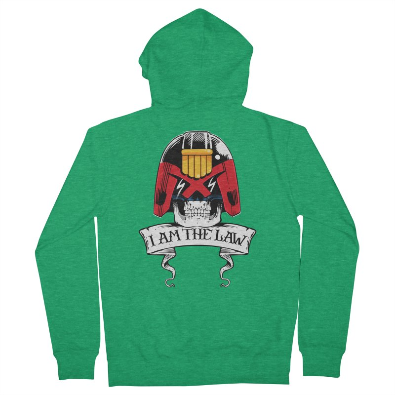 I AM THE LAW Men's Zip-Up Hoody by D4N13L design & stuff