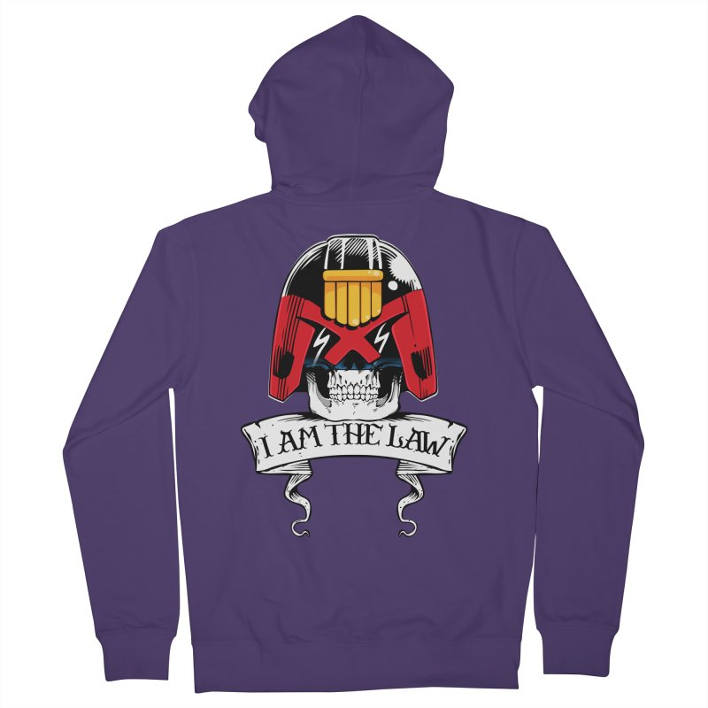I AM THE LAW Women's French Terry Zip-Up Hoody by D4N13L design & stuff