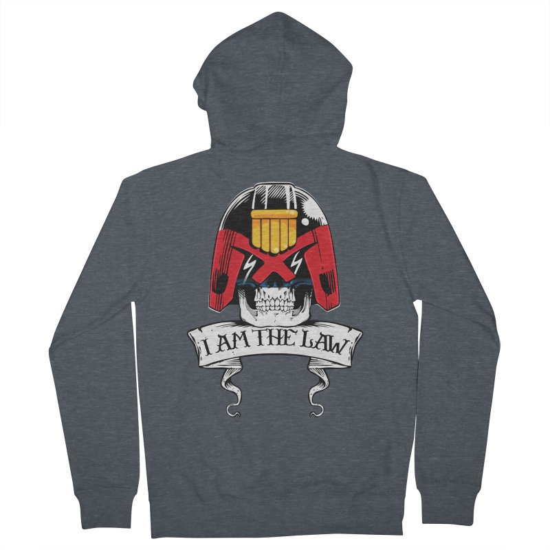 I AM THE LAW Men's French Terry Zip-Up Hoody by D4N13L design & stuff