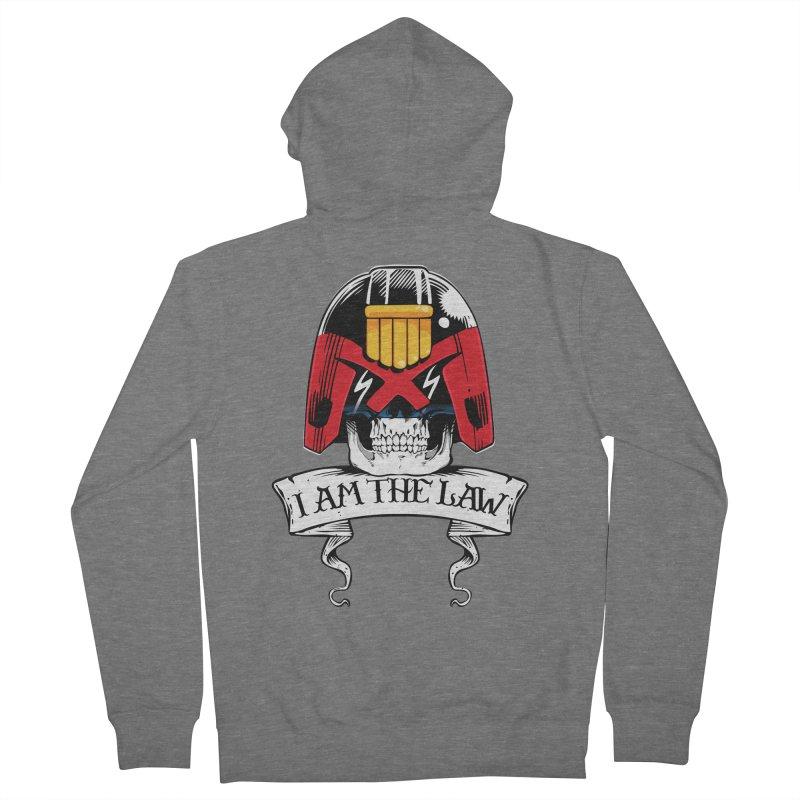 I AM THE LAW Men's Zip-Up Hoody by D4N13L design & stuff