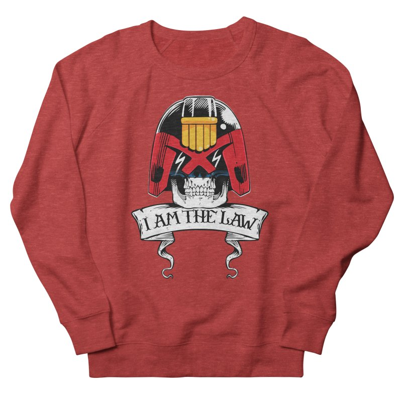 I AM THE LAW Men's French Terry Sweatshirt by D4N13L design & stuff
