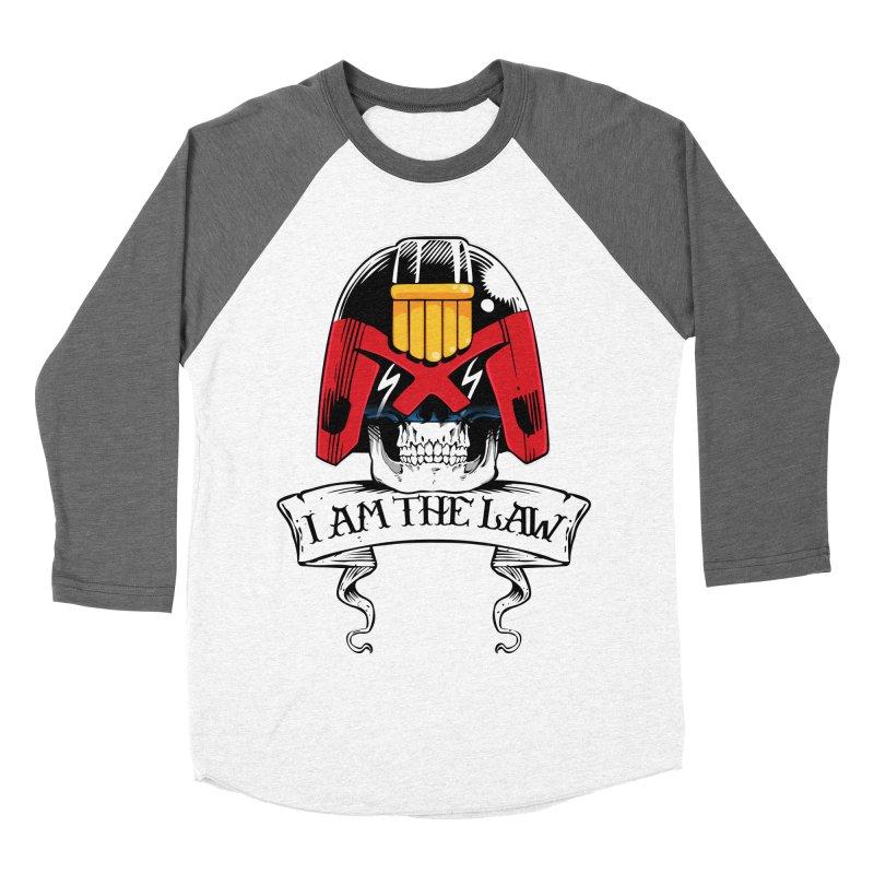 I AM THE LAW Men's Baseball Triblend T-Shirt by D4N13L design & stuff
