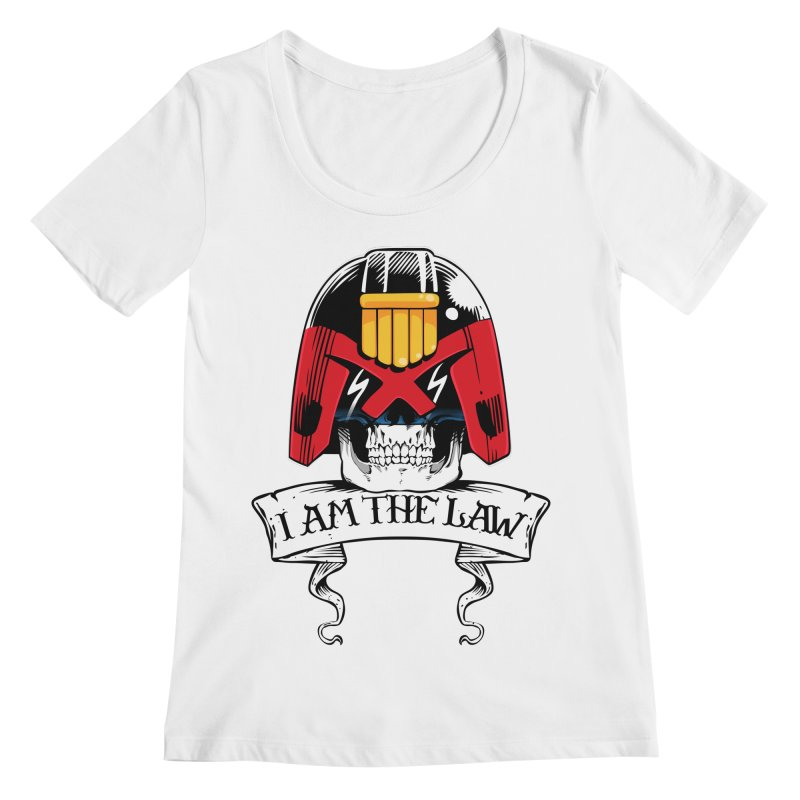 I AM THE LAW Women's Regular Scoop Neck by D4N13L design & stuff