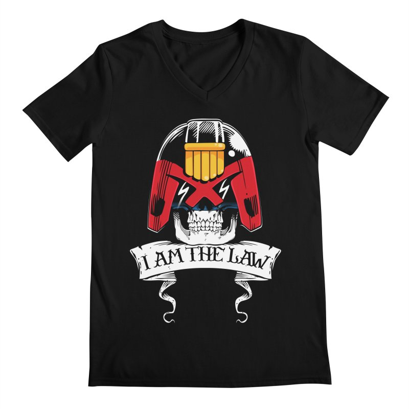 I AM THE LAW Men's V-Neck by D4N13L design & stuff