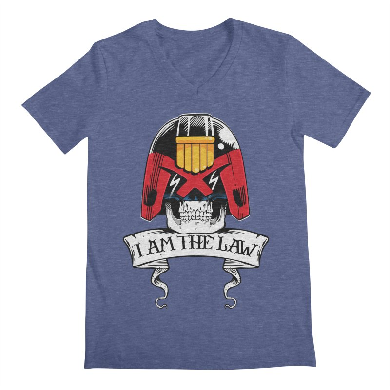 I AM THE LAW Men's Regular V-Neck by D4N13L design & stuff