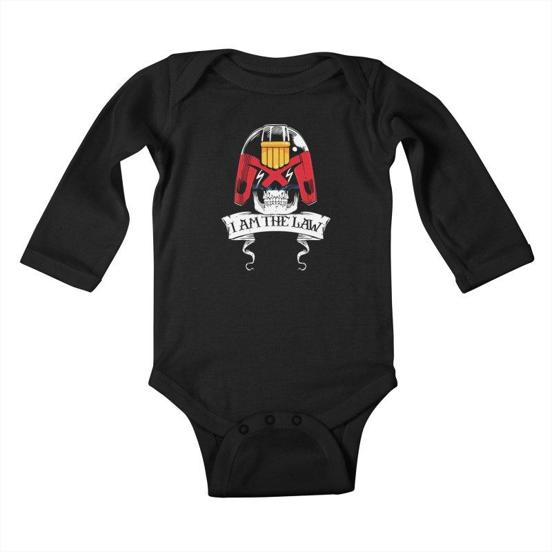 I AM THE LAW Kids Baby Longsleeve Bodysuit by D4N13L design & stuff
