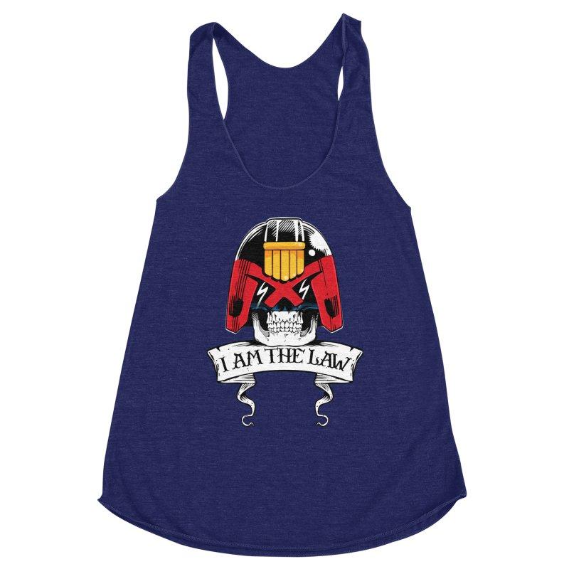I AM THE LAW Women's Racerback Triblend Tank by D4N13L design & stuff