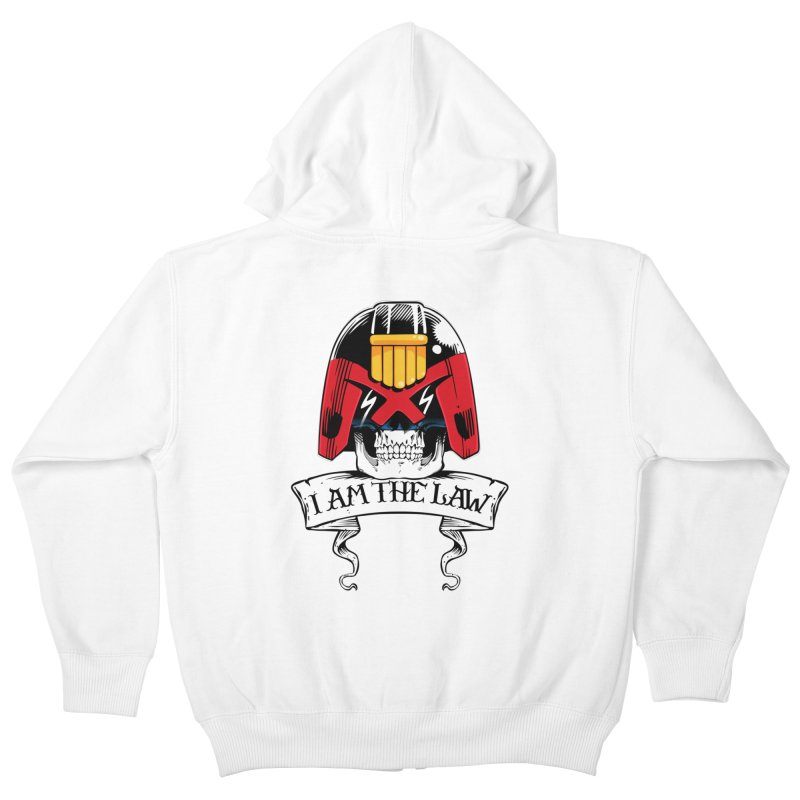 I AM THE LAW Kids Zip-Up Hoody by D4N13L design & stuff