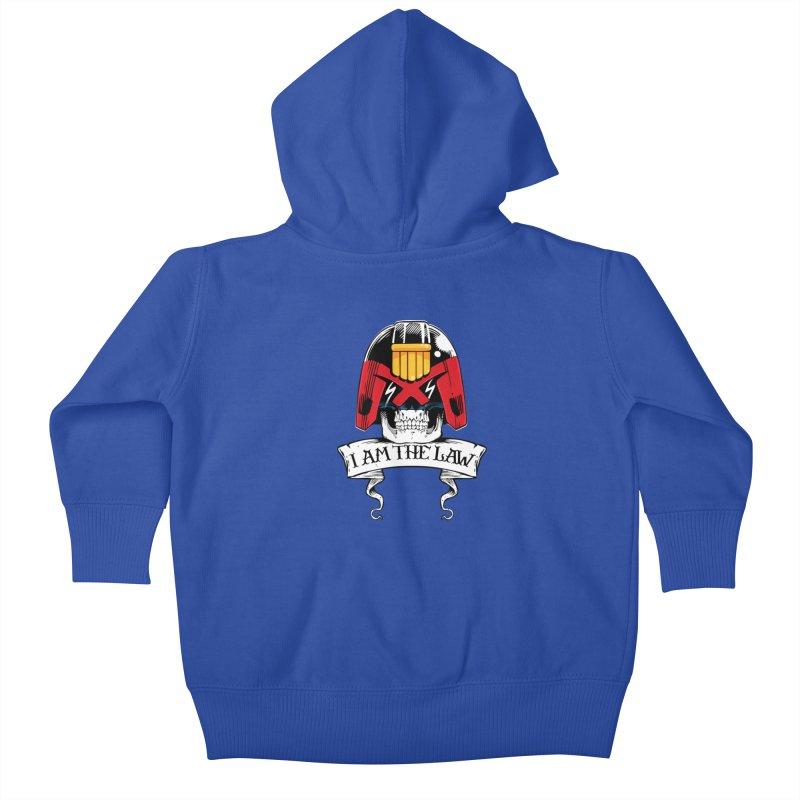 I AM THE LAW Kids Baby Zip-Up Hoody by D4N13L design & stuff