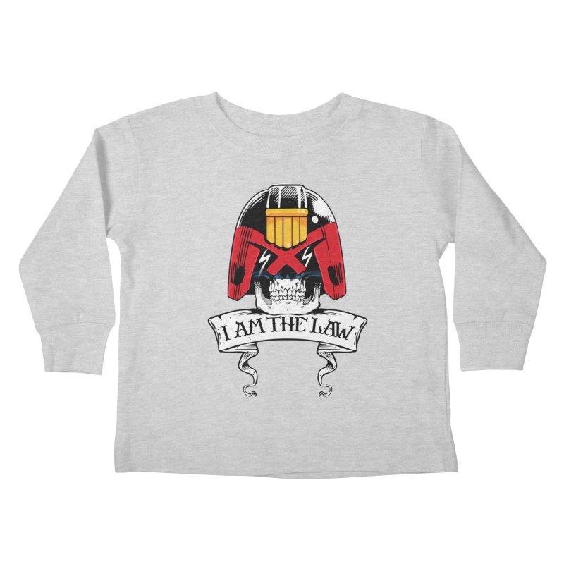 I AM THE LAW Kids Toddler Longsleeve T-Shirt by D4N13L design & stuff
