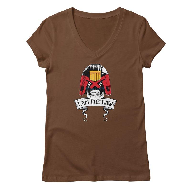 I AM THE LAW Women's V-Neck by D4N13L design & stuff