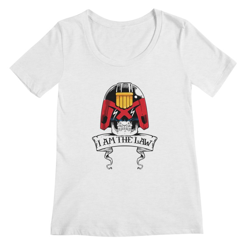 I AM THE LAW Women's Scoop Neck by D4N13L design & stuff