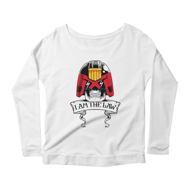 I AM THE LAW Women's Longsleeve Scoopneck  by D4N13L design & stuff