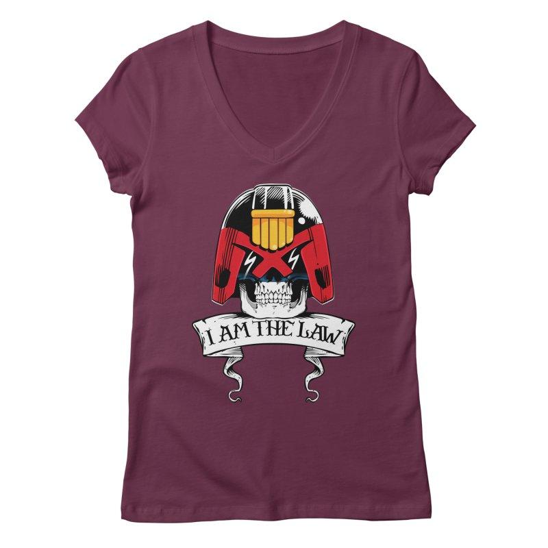 I AM THE LAW Women's Regular V-Neck by D4N13L design & stuff