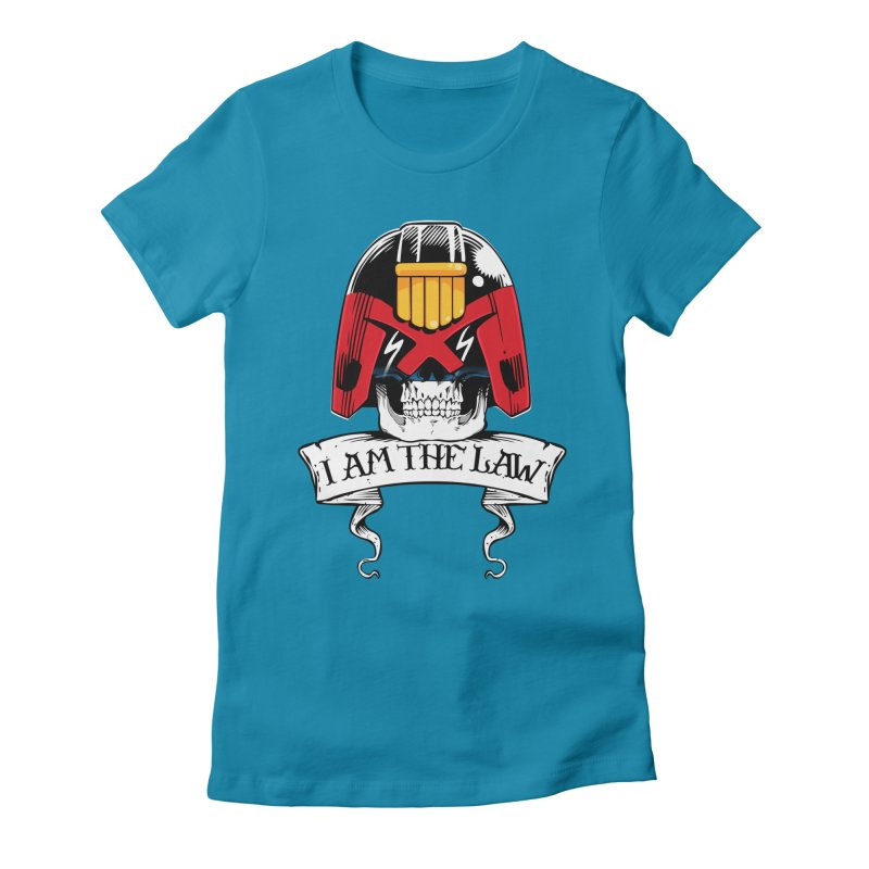 I AM THE LAW Women's Fitted T-Shirt by D4N13L design & stuff