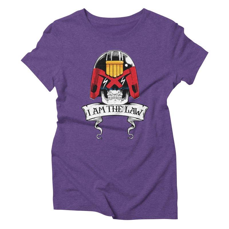 I AM THE LAW Women's Triblend T-Shirt by D4N13L design & stuff