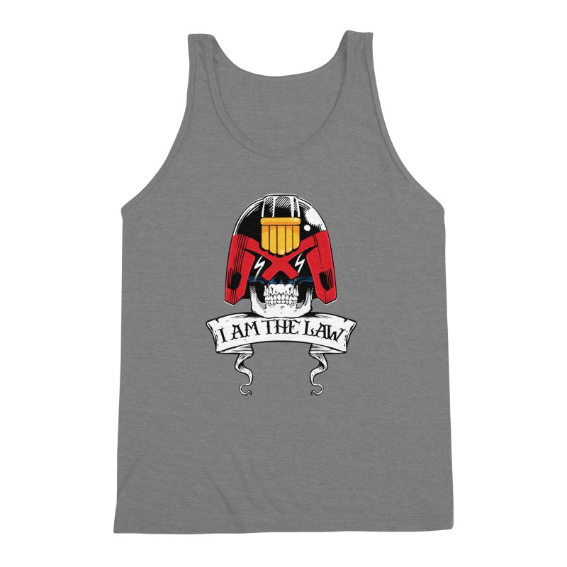 I AM THE LAW Men's Triblend Tank by D4N13L design & stuff