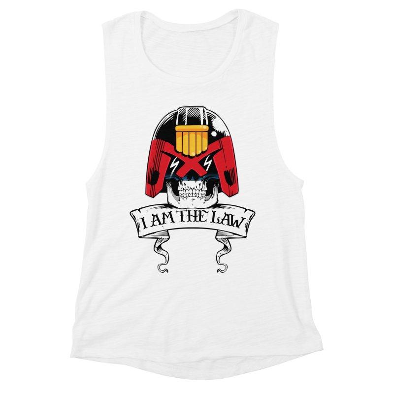 I AM THE LAW Women's Muscle Tank by D4N13L design & stuff