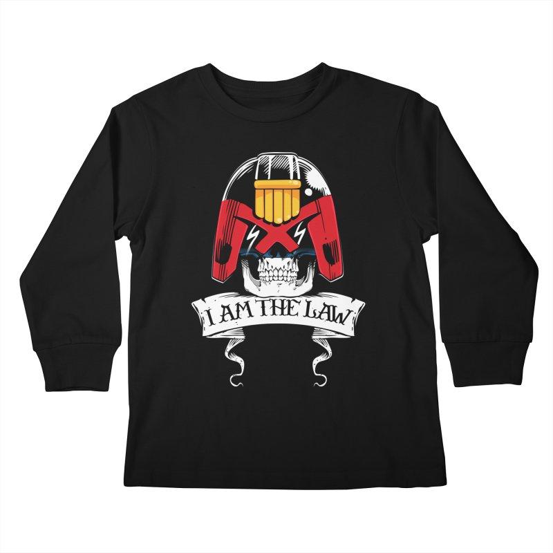 I AM THE LAW Kids Longsleeve T-Shirt by D4N13L design & stuff