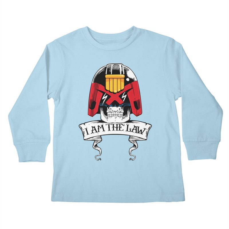 I AM THE LAW Kids Longsleeve T-Shirt by D4N13L design & stuff