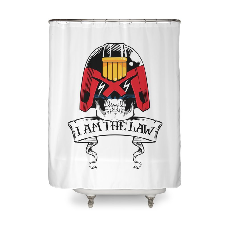 I AM THE LAW Home Shower Curtain by D4N13L design & stuff