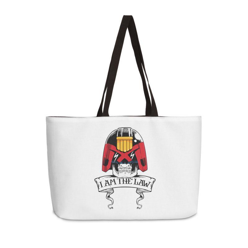 I AM THE LAW Accessories Weekender Bag Bag by D4N13L design & stuff