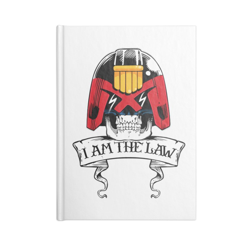 I AM THE LAW Accessories Lined Journal Notebook by D4N13L design & stuff