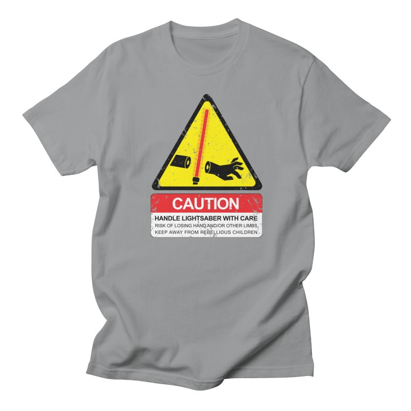 WARNING: Handle with care Men's T-shirt by D4N13L design & stuff