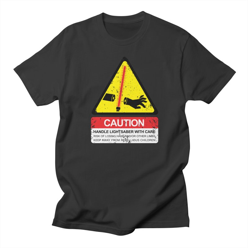 WARNING: Handle with care Men's Regular T-Shirt by D4N13L design & stuff