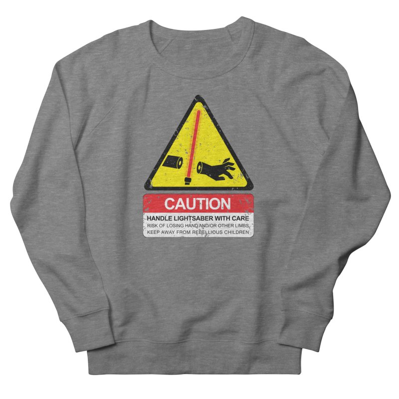 WARNING: Handle with care Men's French Terry Sweatshirt by D4N13L design & stuff