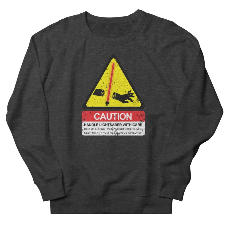WARNING: Handle with care Men's Sweatshirt by D4N13L design & stuff