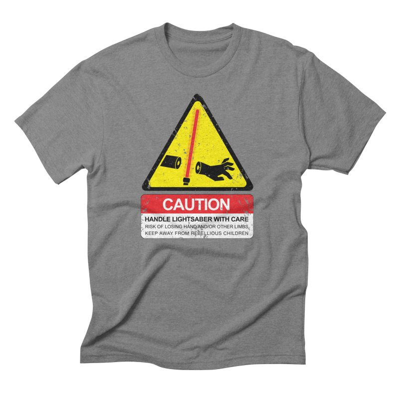 WARNING: Handle with care Men's Triblend T-Shirt by D4N13L design & stuff