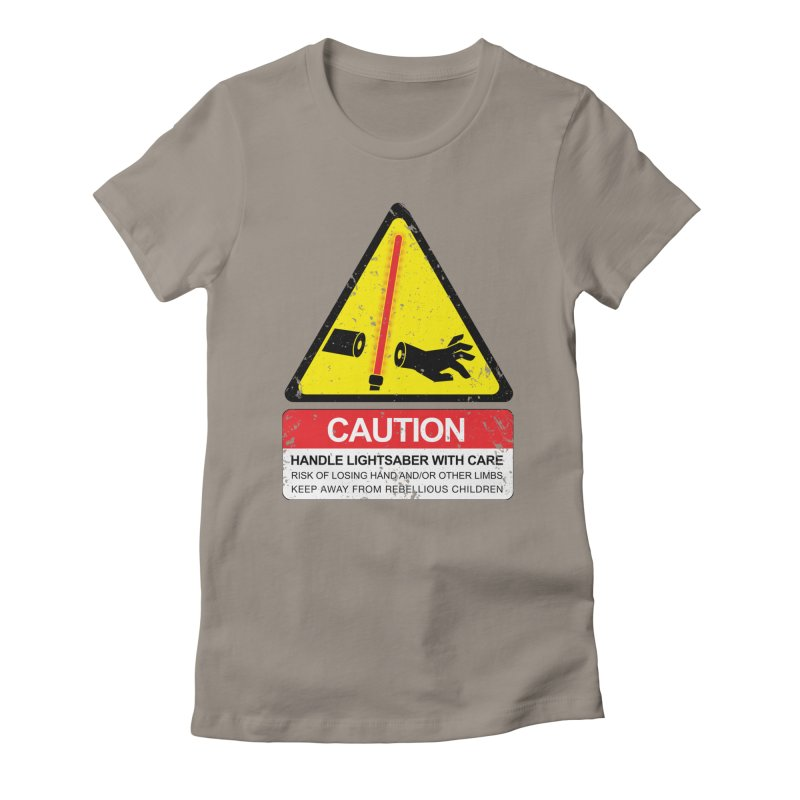 WARNING: Handle with care Women's T-Shirt by D4N13L design & stuff