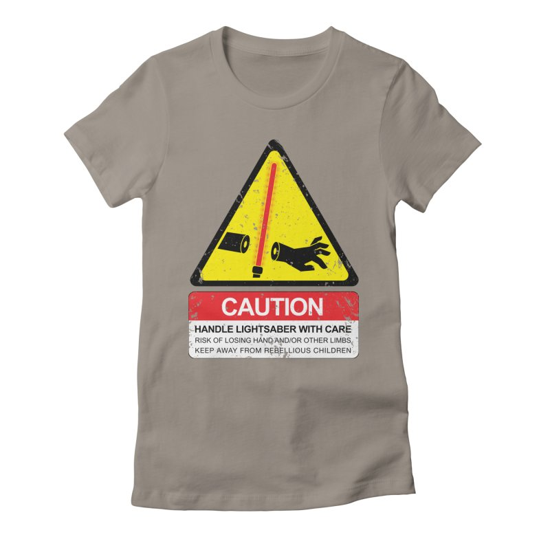 WARNING: Handle with care Women's Fitted T-Shirt by D4N13L design & stuff